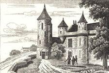 INDRE-ET-LOIRE. Tour d'Agnes Sorel à Loches 1835 old antique print picture