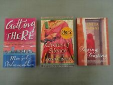 Lot of 3 Indian Novels CIRCLES OF SILENCE, FASTING FEASTING, GETTING THERE