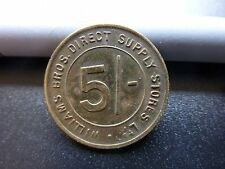 Scarce Williams Bros Direct Stores Ltd Miners 5 Shilling Token Coin
