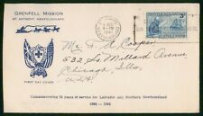 New listing Mayfairstamps Newfoundland Fdc 1941 Grenfell Mission Sir Wilfred Grenfell First