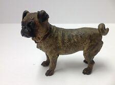 "Vienna Bronze Figure Pug Dog. Antique 4 1/2"" Long. 3 1/4"" High,"