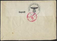 GERMANY 1940 WARTIME LOCAL MUNCHEN COVER CENSORED NAZI MARKING IN RED & BLACK