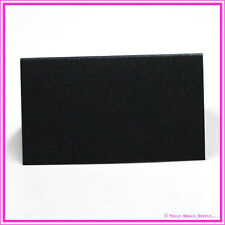Blank Smooth Black Metallic Shimmer Placecards-Wedding Favour Tags - Pack of 25