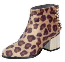 xyxyx Stiefelette 38 Beige Gold Braun Leo- Wildleder-Look Boots Damen Schuh NEU