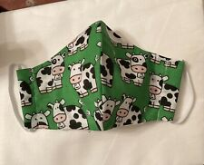 face mask cow print