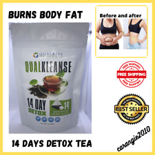 Qual Kiss QUALKLEANSE 14 Day Detox Slimming Tea Fast Slim Detox Lose Weight 28g