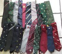 Job Lot 50 X MENS Vintage Club Association Crested Tie 1960s 1970s 1980s JOBLOT