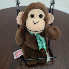 "Vintage 1994 Mary Meyer Brown Monkey Plush 6"" Stuffed Toy"