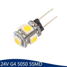 100Pcs 24V G4 5050 5 SMD LED Bulbs Home Cabinet RV Marine Boat Lamps Spot Light