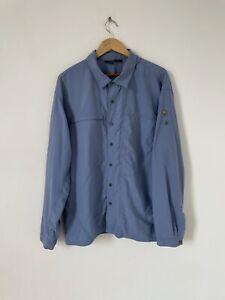 Mountain Hardwear Blue Long Sleeve Shirt Breathable Button Up Size XL