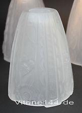 ART DECO GLASSCHIRM satiniertes Glas LAMPENSCHIRM Ersatzglas Verre Tulipe 4vorh.