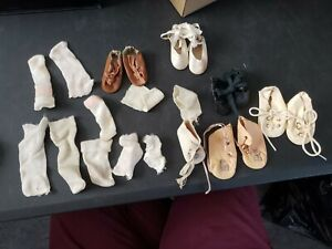 Antique Doll Shoes And Rayon Socks
