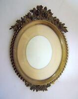 Frame Door Photo Oval Bronze Xixè Style Louis XV