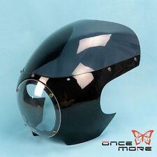 "Drag Racing Style Cafe Racer 5 3/4"" Headlight Fairing Windscreen For Harley"