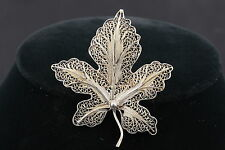 VINTAGE FILIGREE LEAF BROOCH FASHION 3010