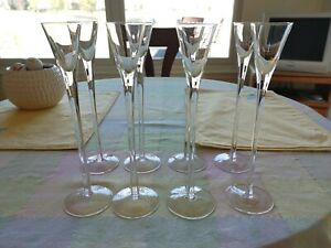 Eight Tall Stem Liqueur Glasses