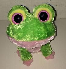 Ty Beanie Boos Kiwi Frog Stuffed Animal Toy Plush Toy AS IS Eyes Have Wear Scuff