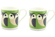 Set of 2 Orla Kiely Apple Owl Mug Fine Bone China - 250ml