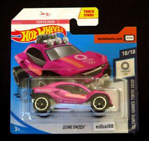 Hot Wheels Tokyo 2020 Olympics Dune Daddy Die-cast Car, Treasure Hunt Short Card