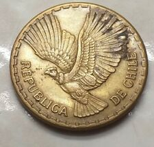 10 CENTESIMOS REPUBLICA DE CHILE 1965 ANTICA MONETA DA COLLEZIONE