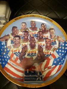 Sports Impressions Plate 1992 DREAM TEAM USA OLYMPICS MICHAEL JORDAN MAGIC BIRD