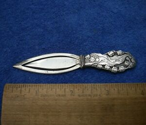 Fine WEBSTER Sterling LILY OF THE VALLEY Pattern BOOKMARK-NR