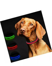Masbrill Luz Collar de Perro con LED Recargable Usb, Cuello Reflectante-Grande