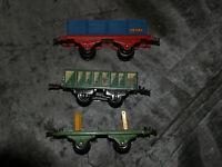 Lot HORNBY Echelle  0 O - 3 wagons de marchandise - bon état