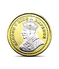 Pure Silver Coin 999 BIS Hallmarked King 10 gms 24K Gold Plating