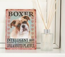 New Boxer Dog Breed Sign Shabby Chic Retro Gift Vintage Hanging Metal Plaque