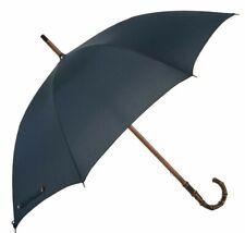 Mario Take Bambus einteilig Regenschirm mit Solid Navy Sonnendach