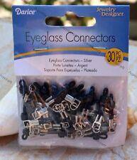 30 Darice Jewelry Designer Silver and Black Eyeglass Connectors