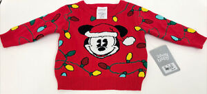 DISNEY BABY Mickey Mouse Christmas Sweater 6-9M