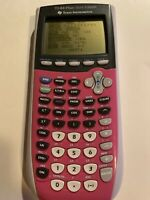 Texas Instruments TI-84 Plus Silver Edition Graphing Calculator Color Pink Works
