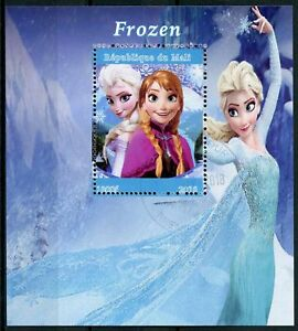 Mali 2018 CTO Frozen Elsa 1v M/S Disney Cartoons Animation Stamps