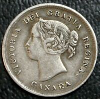 1888 Canada 5 Cents ~  5C Silver Coin ~ Nice Original Coin ~ Higher Grade