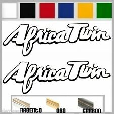 coppia adesivi sticker AFRICA TWIN honda prespaziato, auto moto,casco 30cm