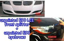 Unpainted BMW 09~11 E90 E91 LCI 3-series OEM type front splitter + eye brows ◎