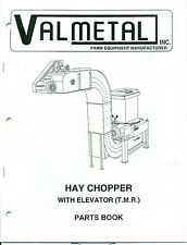 VALMETAL Hay Chopper with Elevator (T.M.R.) PARTS BOOK 1996 (AG-48)