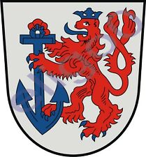 1x STICKER Dusseldorf coat of arms GERMANY