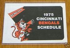 cincinnati bengals pocket schedule 1975 NFL