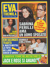 EVA 3000 43/1998 FERILLI JOHN TRAVOLTA KIM BASINGER FUMETTO TITANIC DI CAPRIO