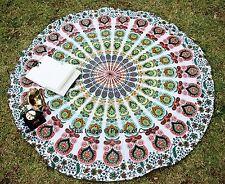 Indian Round Mandala Wall Hanging Tapestry Yoga Mat Table Runner Picnic Blanket