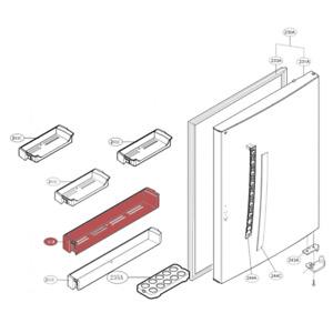 GENUINE LG FRIDGE MIDDLE DOOR SHELF/BASKET FOR GB-450UPLE PART NO. MAN62288601