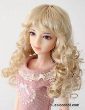 "1/3 1/4 bjd 7-8"" doll head blonde curly wig dollfie minifee msd iplehouse JD311M"