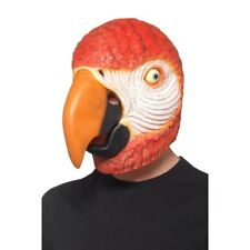 Polly Parrot Mask Adults Latex Overhead Bird Man Fancy Dress Mask