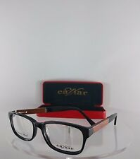 Brand New Authentic Caviar Eyeglasses M 1593 C. 24 Black Brown Wooden Frame 53mm
