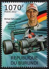 Michael Schumacher & Mercedes AMG Petronas Formula 1 GP Race / Racing Car Stamp