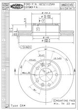 Disc Brake Rotor-Natural Front Magneti Marelli 1AMVR10149