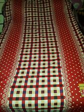 Beautiful red white check spotted 100% cotton bed sheet with 2 pillowcases
